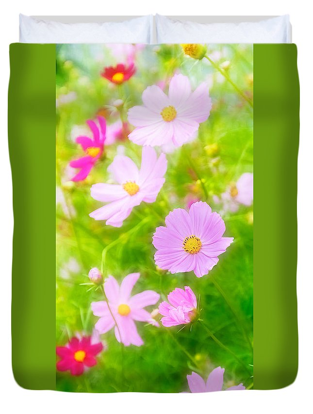 Flower Duvet Cover featuring the photograph Summer Colours by Garvin Hunter