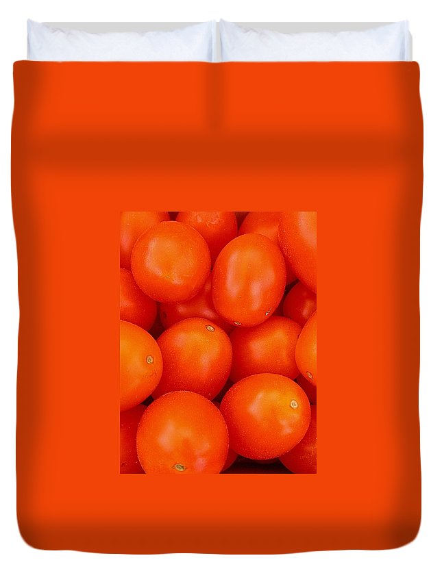 Tomato Harvest Duvet Cover featuring the photograph Summer Fun by Cynthia Wallentine