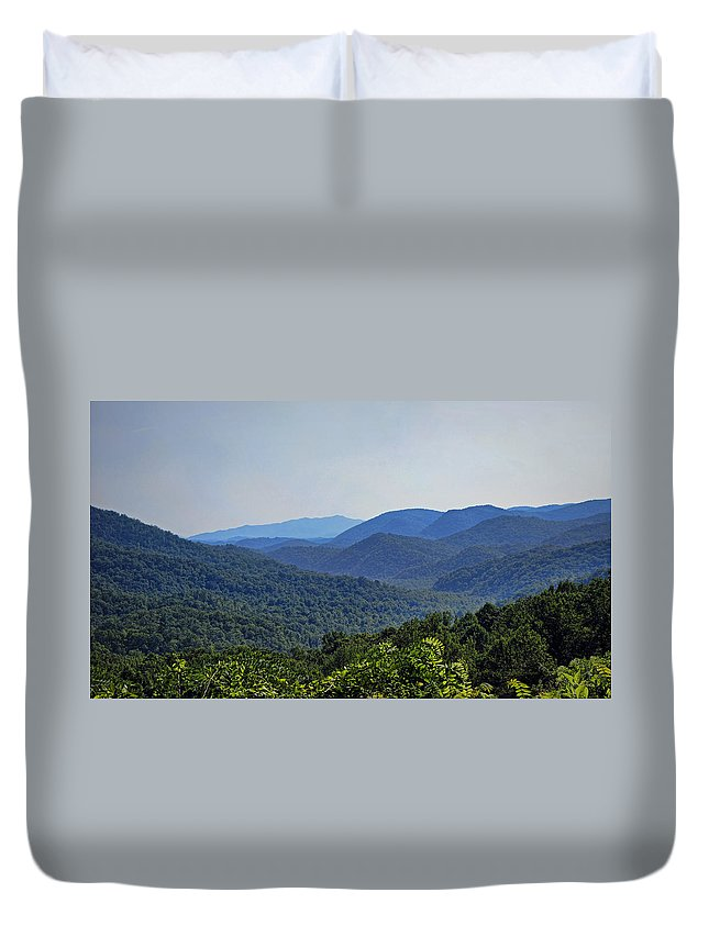 smoky Mountains Duvet Cover featuring the photograph Summer In The Smokies by Cricket Hackmann