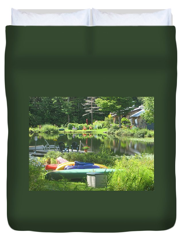 Landscape Duvet Cover featuring the photograph Summer In Vermont by Barbara McDevitt