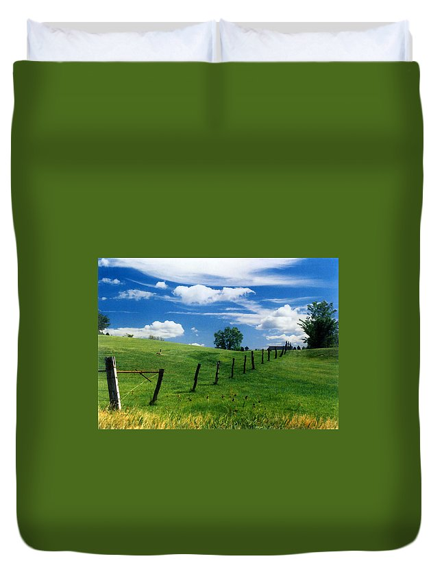 Summer Landscape Duvet Cover featuring the photograph Summer Landscape by Steve Karol