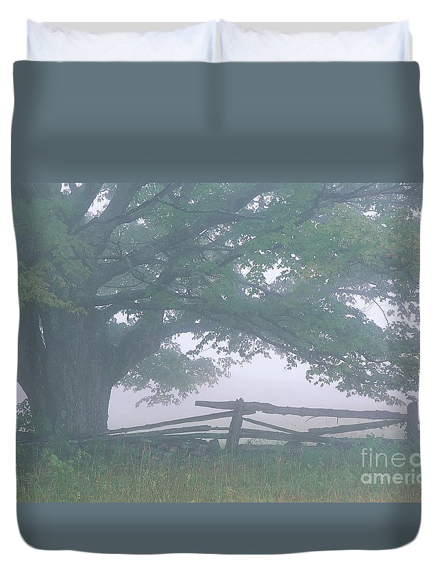 Summer Duvet Cover featuring the photograph Summer Morning Fog by Alan L Graham