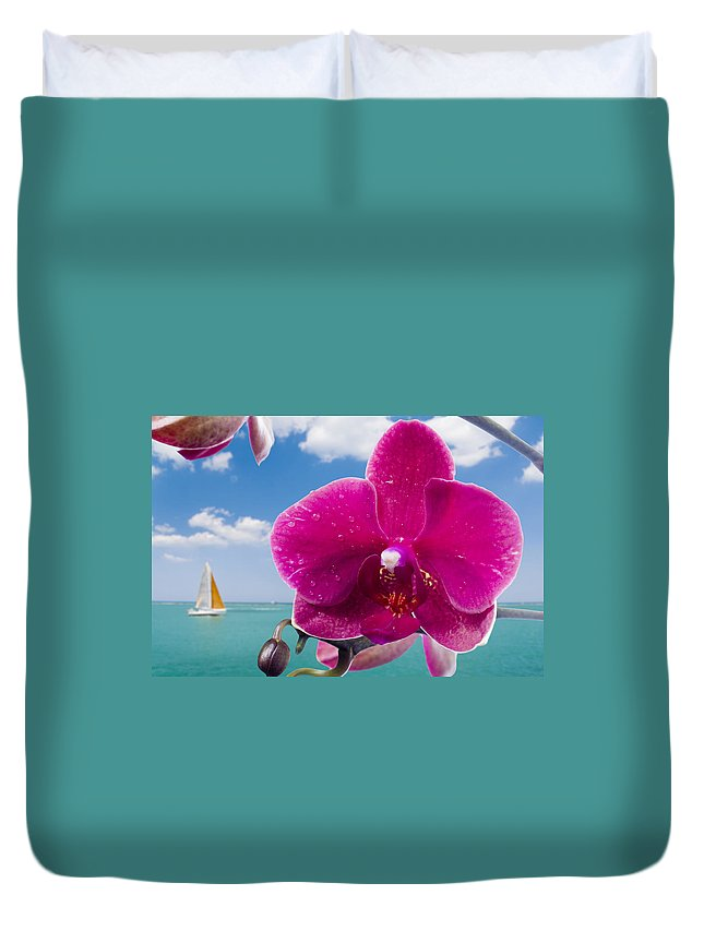 Summer Duvet Cover featuring the photograph Summer Paradise by Alexey Stiop