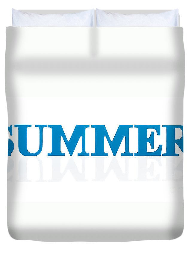 Summer Duvet Cover featuring the photograph Summer Reflected by Amanda Elwell