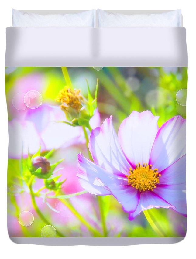 Cosmea Duvet Cover featuring the pyrography Summer by Steffen Gierok