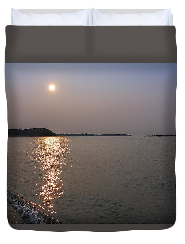 Crane Beach Duvet Cover featuring the photograph Summer Sun Late Afternoon by David Stone