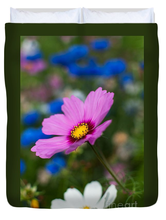 Flowers Duvet Cover featuring the photograph Summer Wild Blooms by Matt Malloy