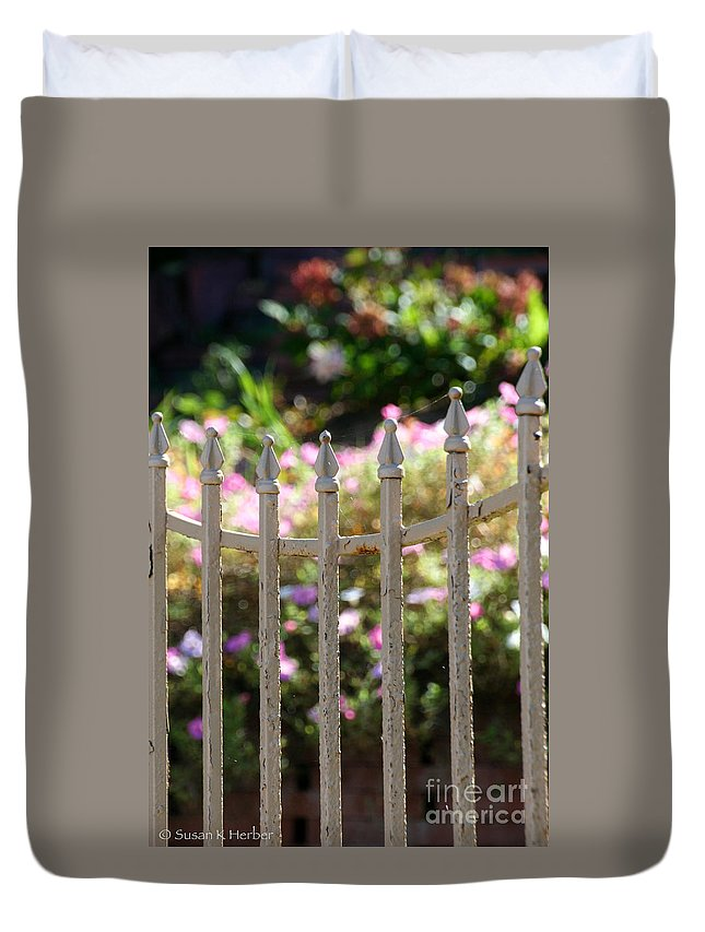 Horticulture Duvet Cover featuring the photograph Summer's Soft End by Susan Herber