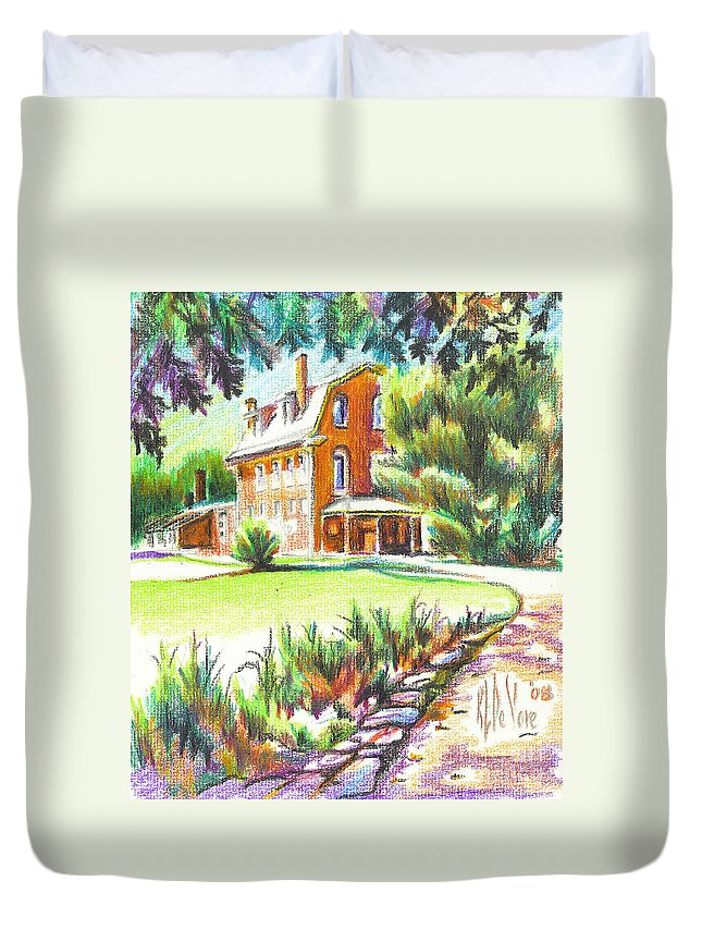 Summertime At Ursuline No C101 Duvet Cover featuring the painting Summertime At Ursuline No C101 by Kip DeVore