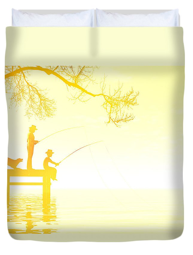 Activity Duvet Cover featuring the digital art Summertime by Carol and Mike Werner