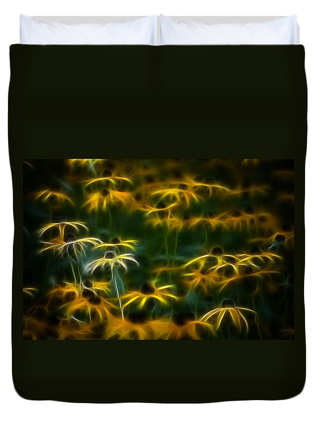 Color Duvet Cover featuring the photograph Sun Dancers by Timothy Bischoff