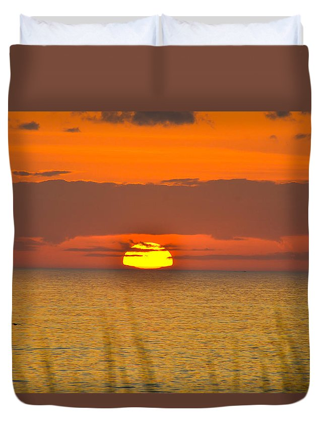 Beach Cottage Life Duvet Cover featuring the photograph Sun Delight by Mary Hahn Ward