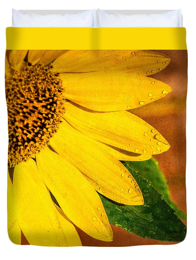 Sun Duvet Cover featuring the photograph Sun-kissed Sunflower by Jon Woodhams