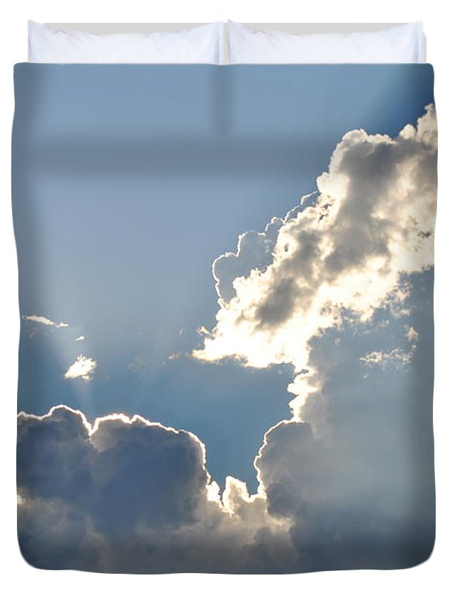 Sun Duvet Cover featuring the photograph Sun Rays by Debra Casper