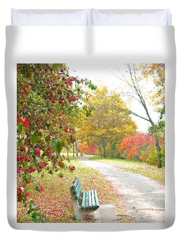 Landscape Duvet Cover featuring the photograph Sunday Peace by Barbara McDevitt