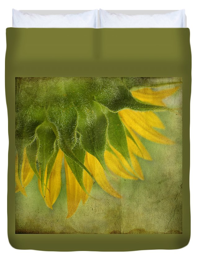 Sunflower Duvet Cover featuring the photograph Sunflower by Ivelina G