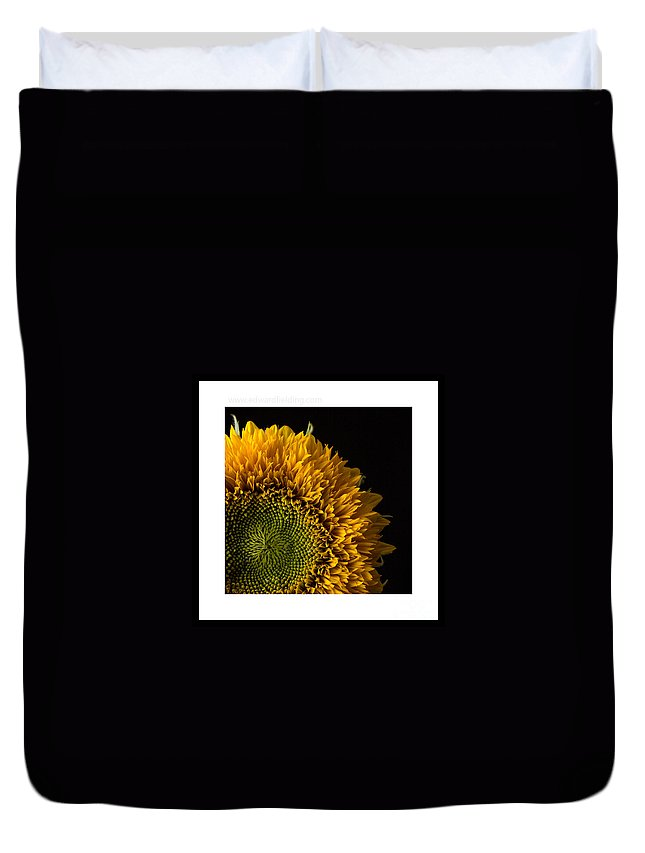 Flower Duvet Cover featuring the photograph Sunflower Original Signed Mini by Edward Fielding