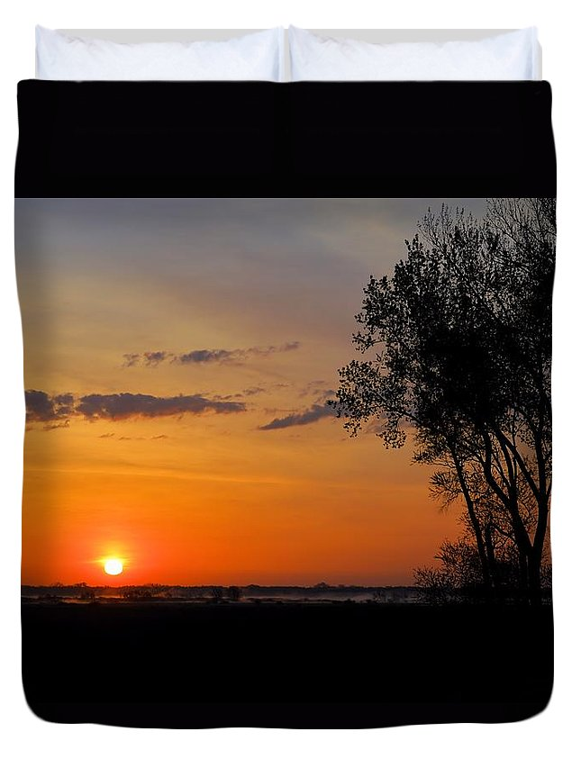 Marsh Duvet Cover featuring the photograph Sunlight by Bonfire Photography