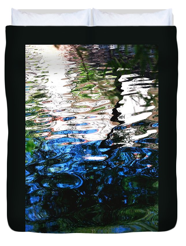 Reflection Duvet Cover featuring the photograph Sunny Lagoon Reflection 29417 by Jerry Sodorff