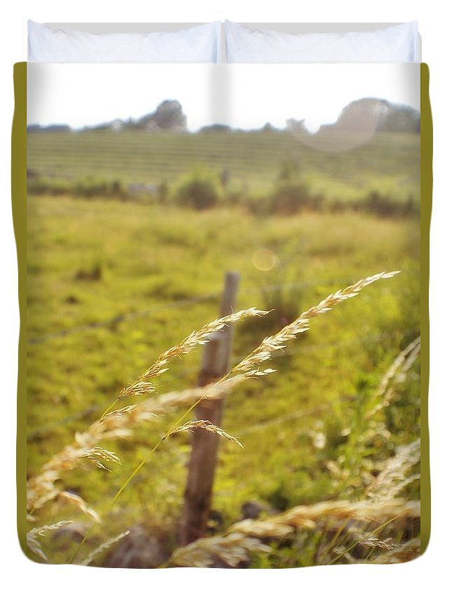 Farm Duvet Cover featuring the photograph Sunny Pasture by Chet B Simpson