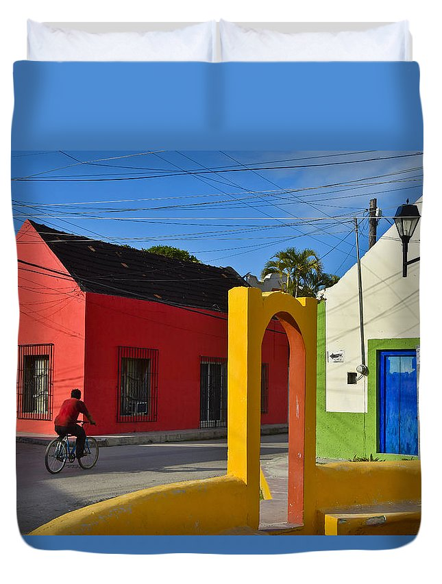 Sunny Side Duvet Cover featuring the photograph Sunny Side by Skip Hunt