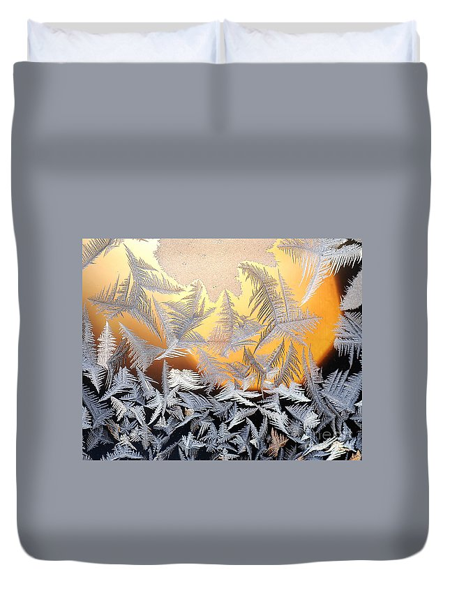 Frost Duvet Cover featuring the photograph Sunrise by Claudia Kuhn