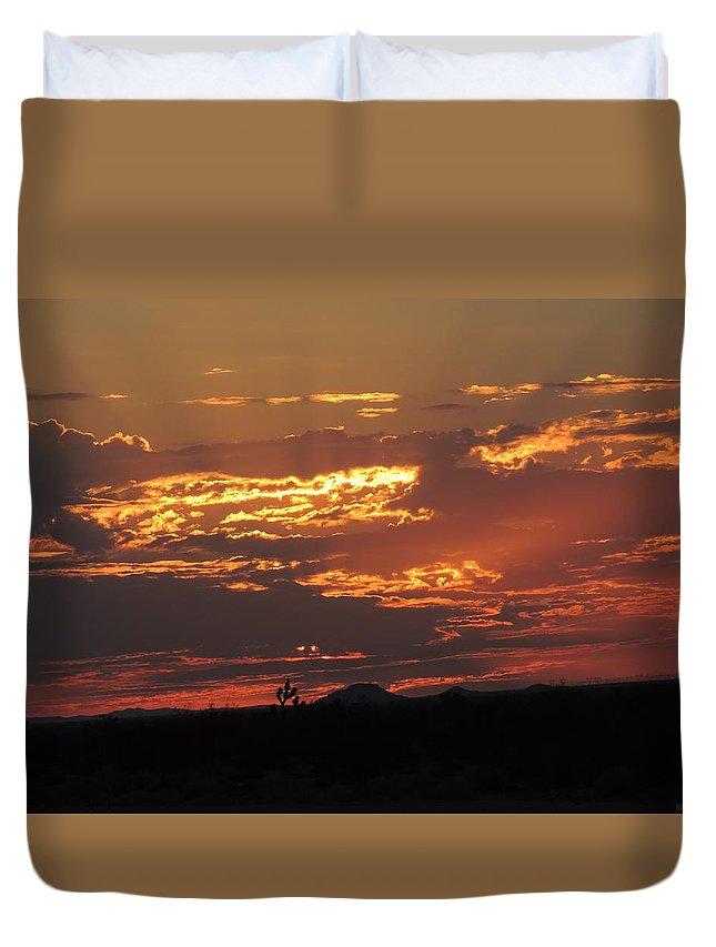 Sunrise Duvet Cover featuring the photograph Sunrise Closeup 9-11-2013 by Enaid Silverwolf