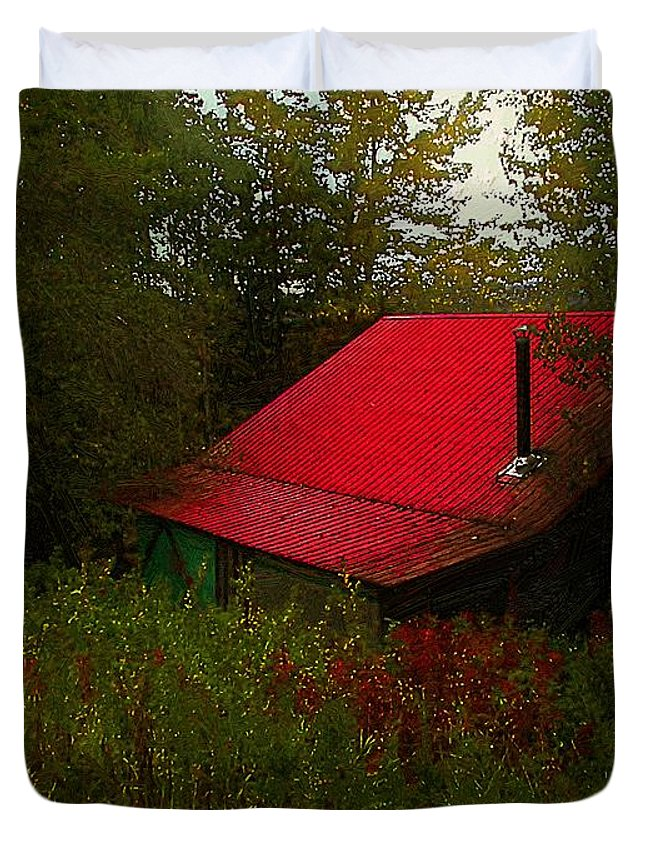 Americana Duvet Cover featuring the painting Sunrise In The Hollow by RC DeWinter