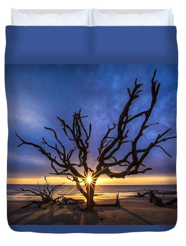 Clouds Duvet Cover featuring the photograph Sunrise Jewel by Debra and Dave Vanderlaan