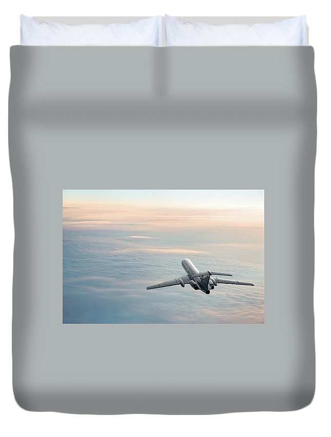 Scenics Duvet Cover featuring the photograph Sunrise Journey by Egorych