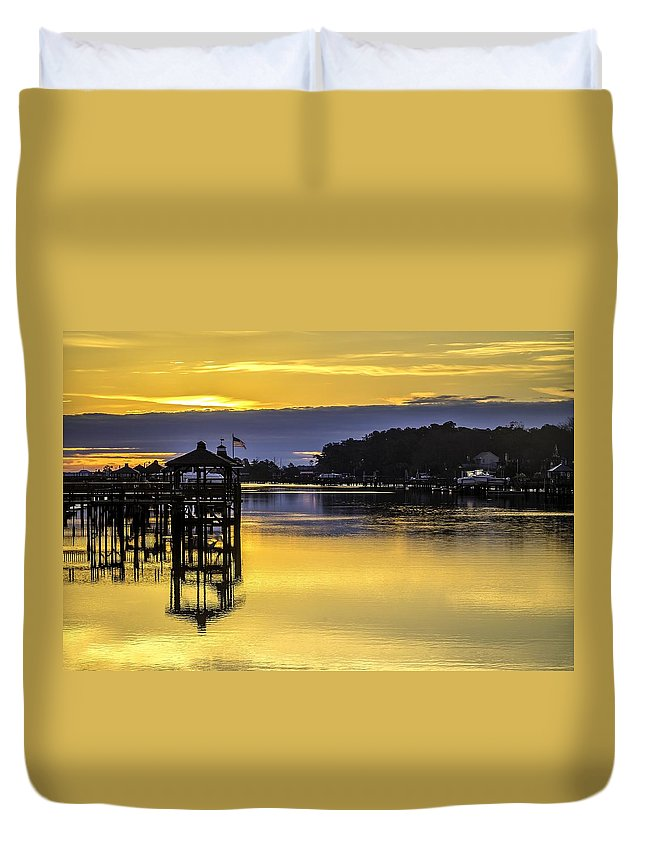 2014 Duvet Cover featuring the photograph Sunrise Of The Atlantic Icw by Nick Noble