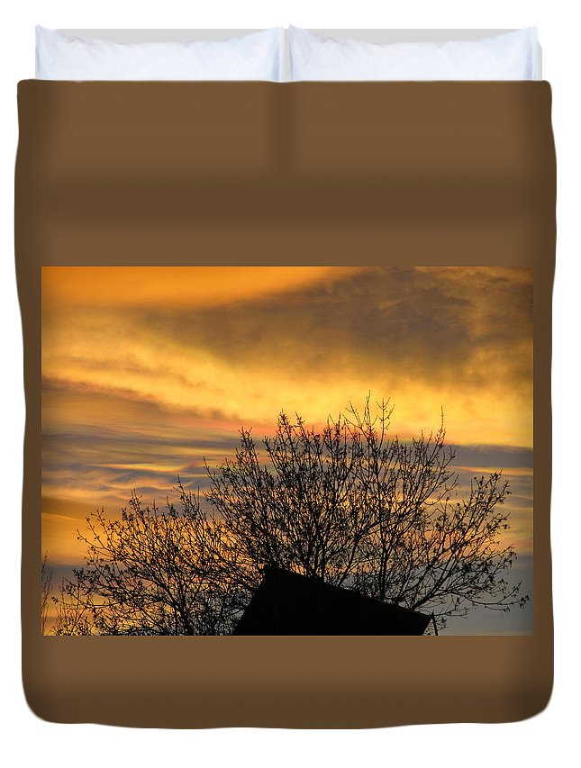 Sunset Duvet Cover featuring the photograph Sunset 4 by Becca Buecher