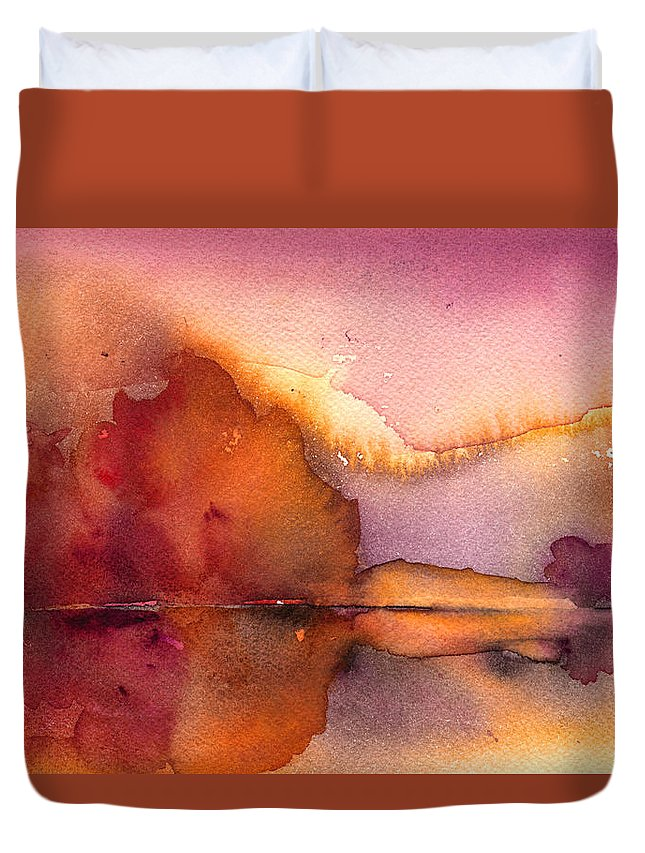 Impressionism Duvet Cover featuring the painting Sunset 44 by Miki De Goodaboom