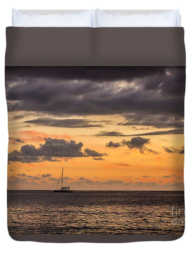 Sailing Duvet Cover featuring the photograph Romantic Sunset Adventure by Rene Triay Photography