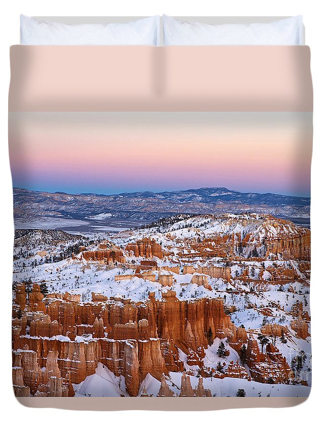 Bryce Canyon Duvet Cover featuring the photograph Sunset At Bryce Canyon National Park Utah by Jason O Watson