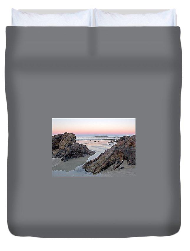 Beach Duvet Cover featuring the photograph Sunset Denhams Beach. by Steven Ralser