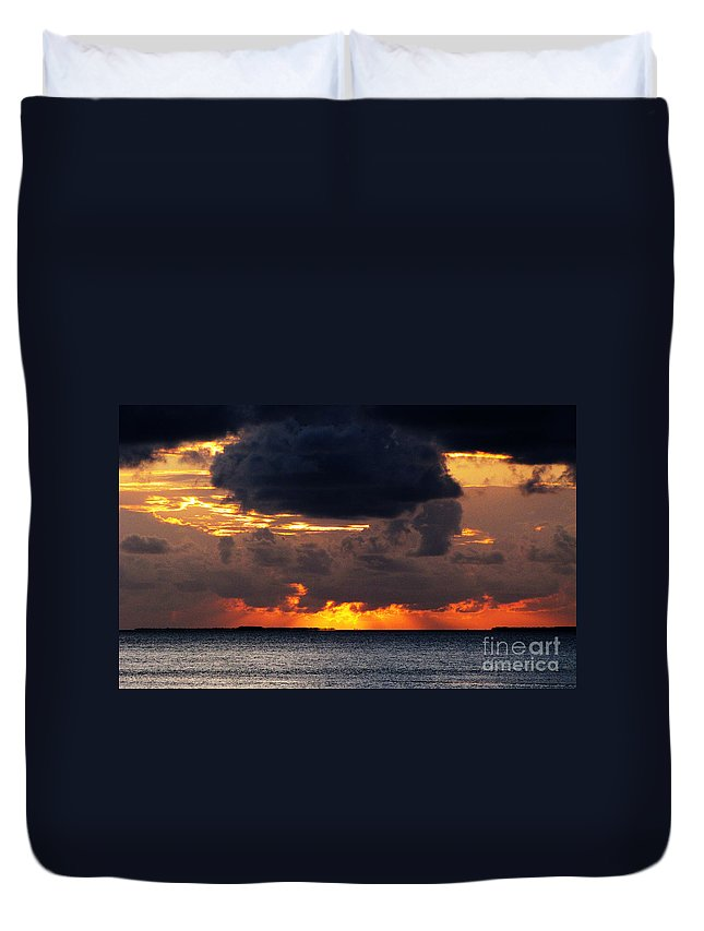 Florida Duvet Cover featuring the photograph Sunset Florida Keys by Ron Tackett
