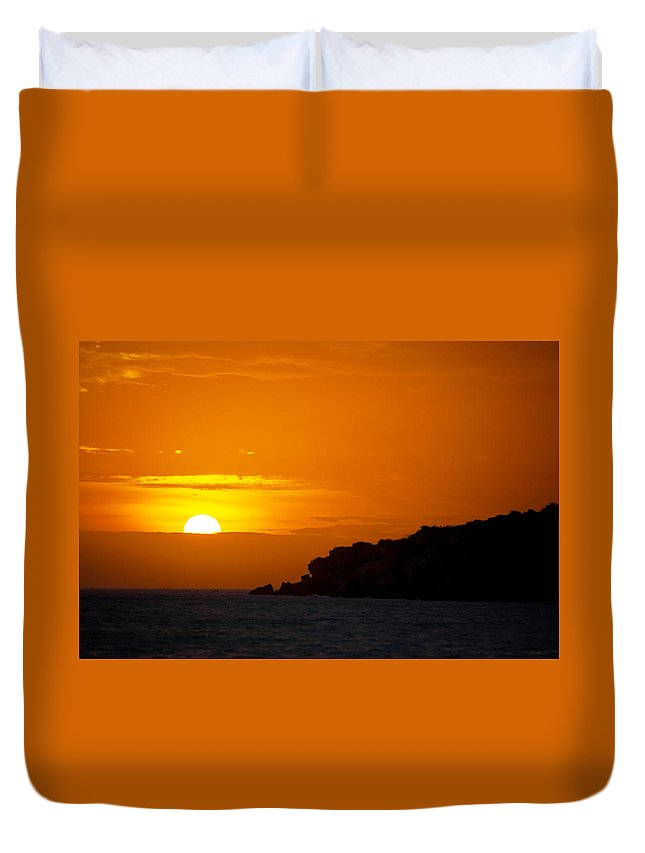 Sunset Duvet Cover featuring the photograph Sunset In Northern Colombia by Jess Kraft