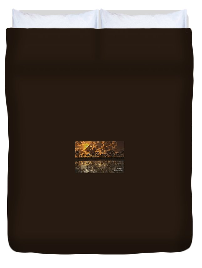 Sunset Duvet Cover featuring the photograph Sunset Jd II by Bruce Bain