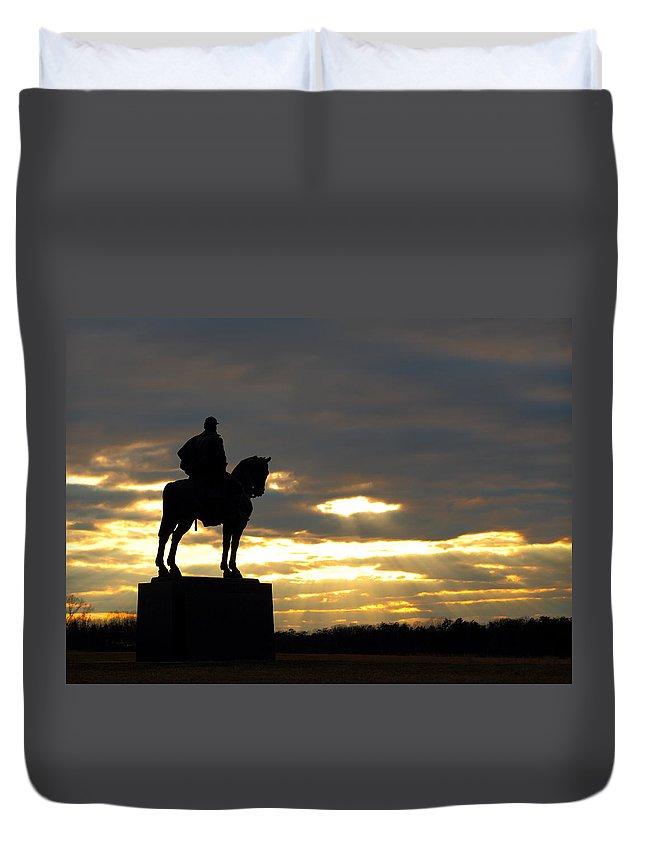 Manassas Duvet Cover featuring the photograph Sunset On The Battlefield by Scott Fracasso