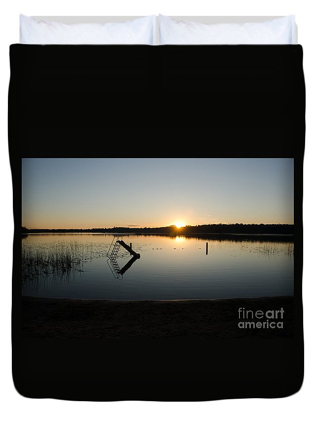 Ice Duvet Cover featuring the photograph Sunset On The Lake 3 by Cassie Marie Photography