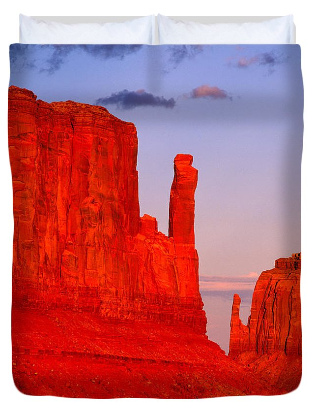 Arizona Duvet Cover featuring the photograph Sunset On The Mittens by Tracy Knauer