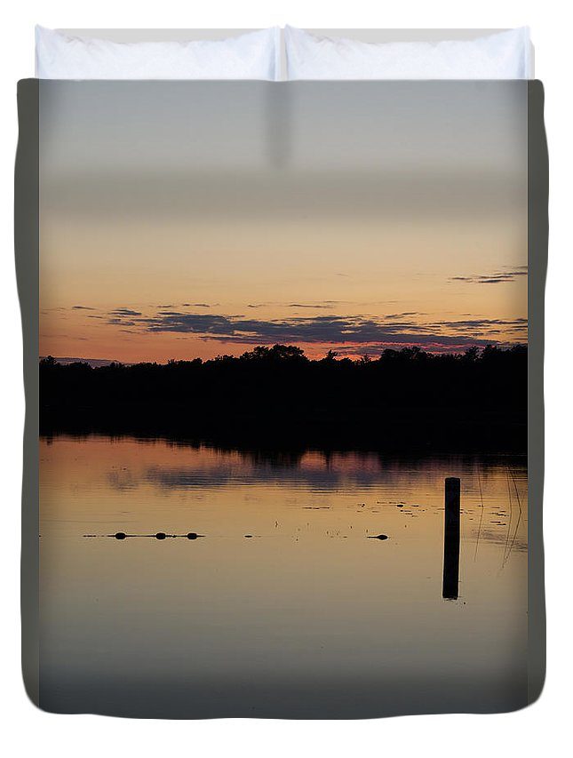 Ice Duvet Cover featuring the photograph Sunset Reflection by Cassie Marie Photography