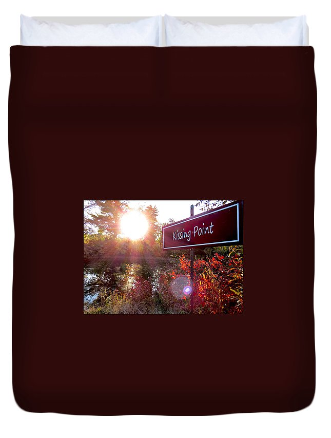 Fall Duvet Cover featuring the photograph Sunset Rendezvous by Craig Bohnert
