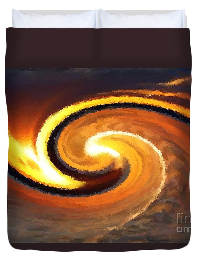 Sunset Duvet Cover featuring the digital art Sunset Wave by Chris Butler