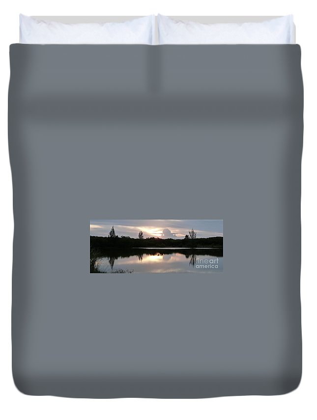 Color Duvet Cover featuring the photograph Sunset Whispers by Amar Sheow