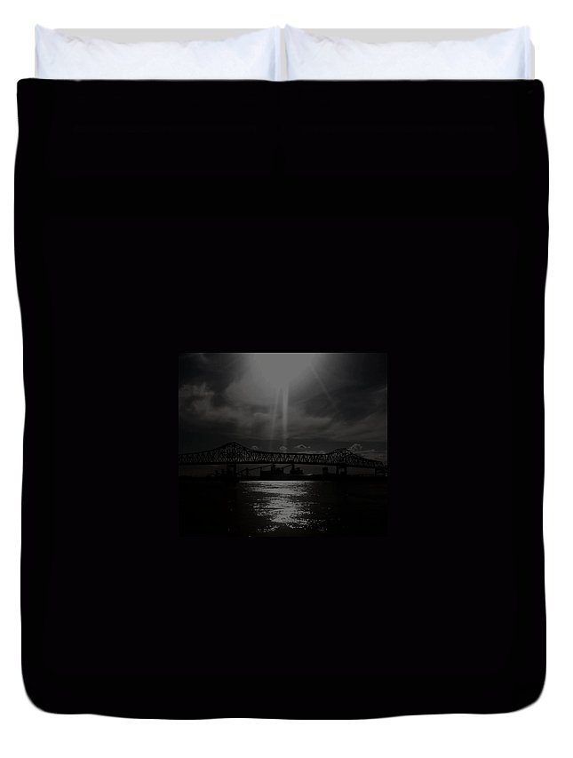 Baton Rouge Duvet Cover featuring the photograph Sunshine In An Industrial World by Michele Monk