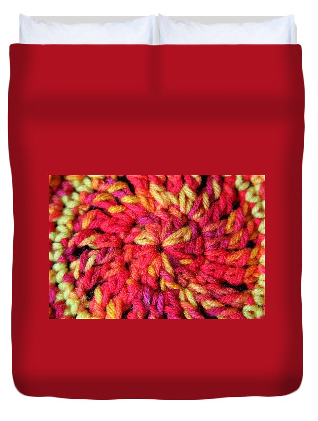 Crochet Duvet Cover featuring the photograph Sunshine by Nicole Colella