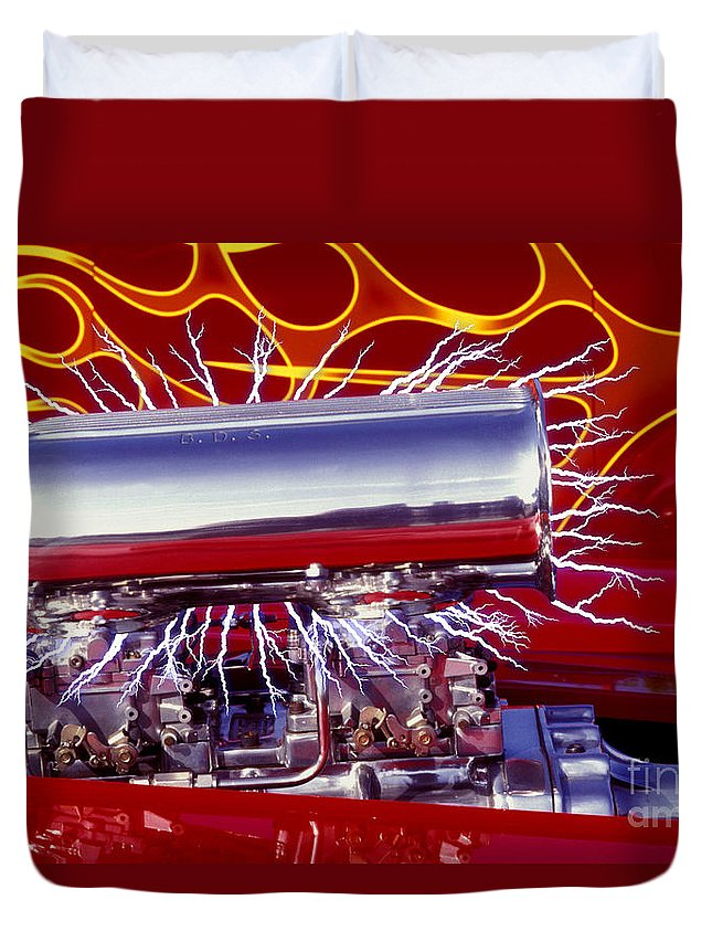 Car Duvet Cover featuring the photograph Super Charged Plus by Paul W Faust - Impressions of Light