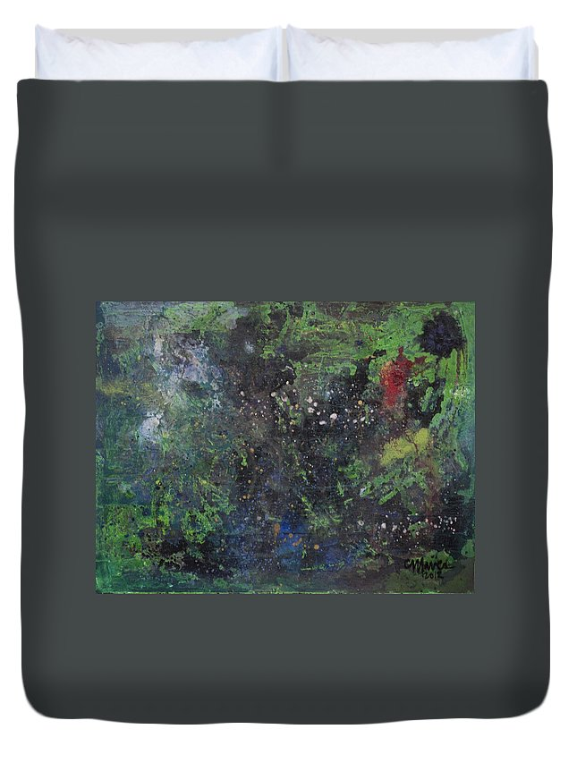Astral Duvet Cover featuring the painting Supernova Number Three by Laurie Maves ART